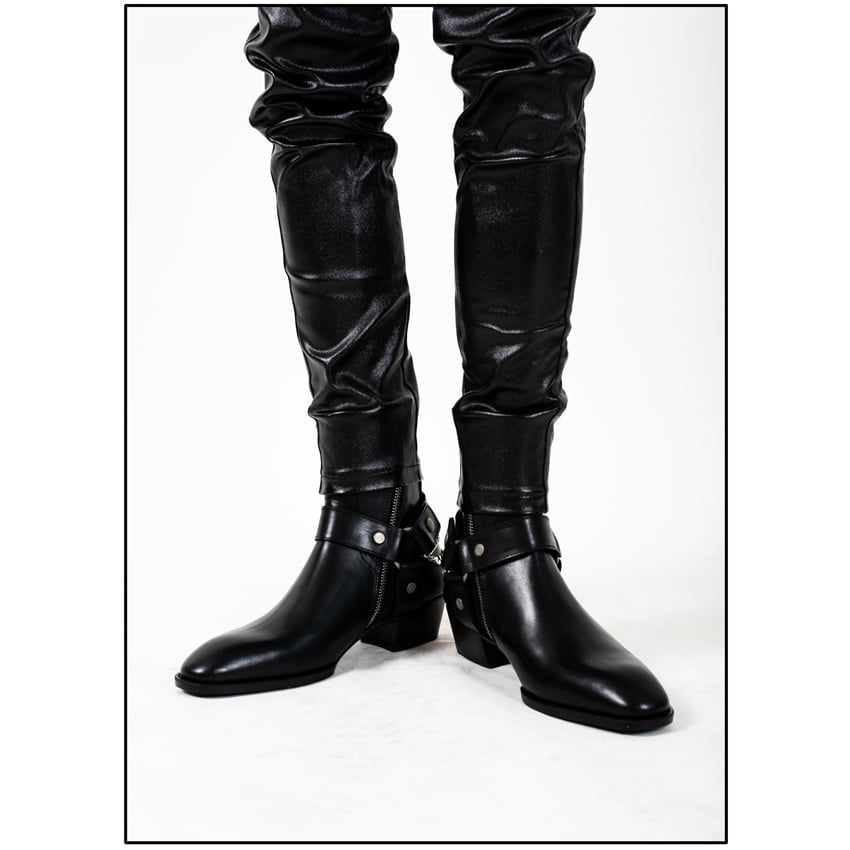 Chain x Harness Boots In Black Chain x Harness Boots In Black SS2020 2