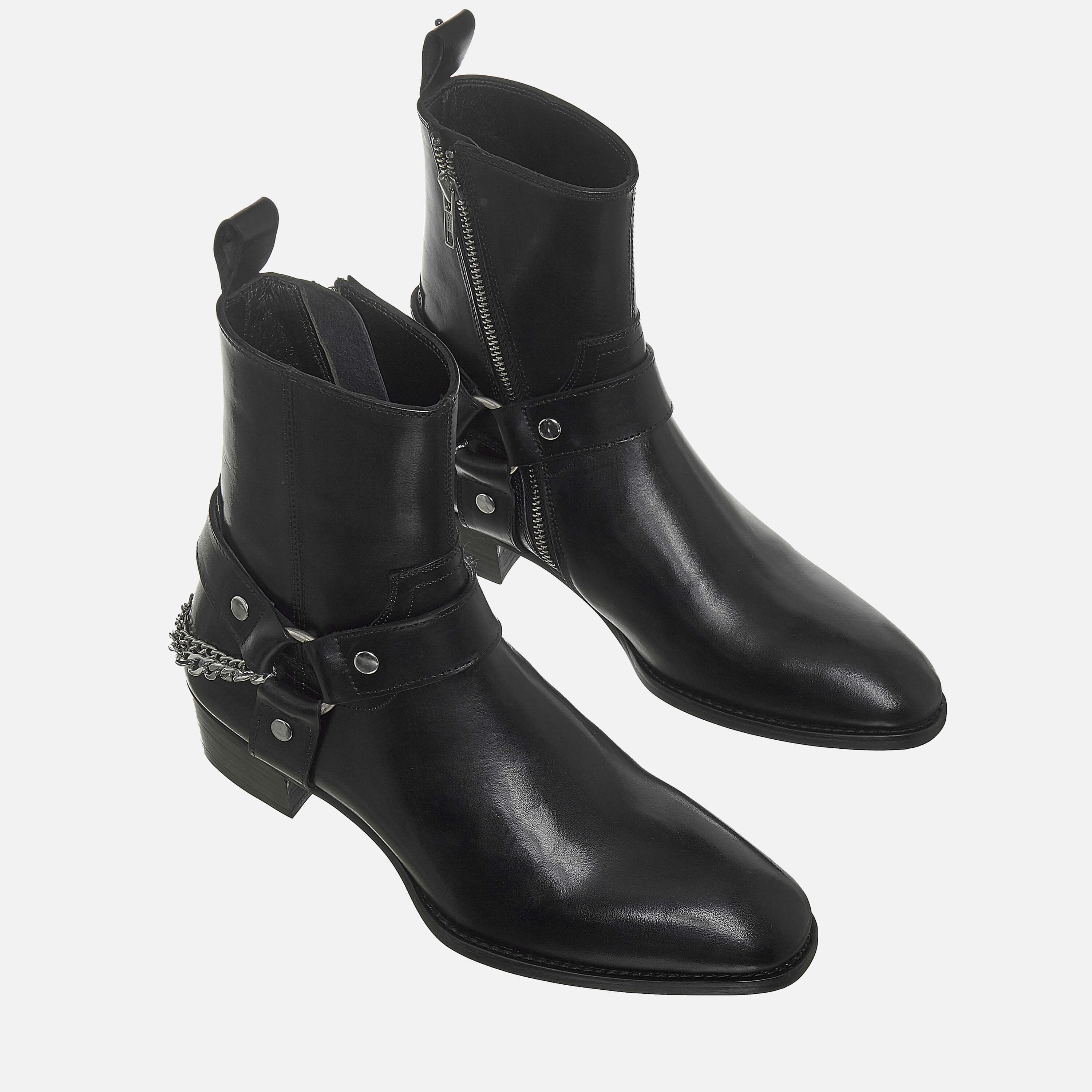 Chain x Harness Boots In Black Chain x Harness Boots In Black SS2020 4