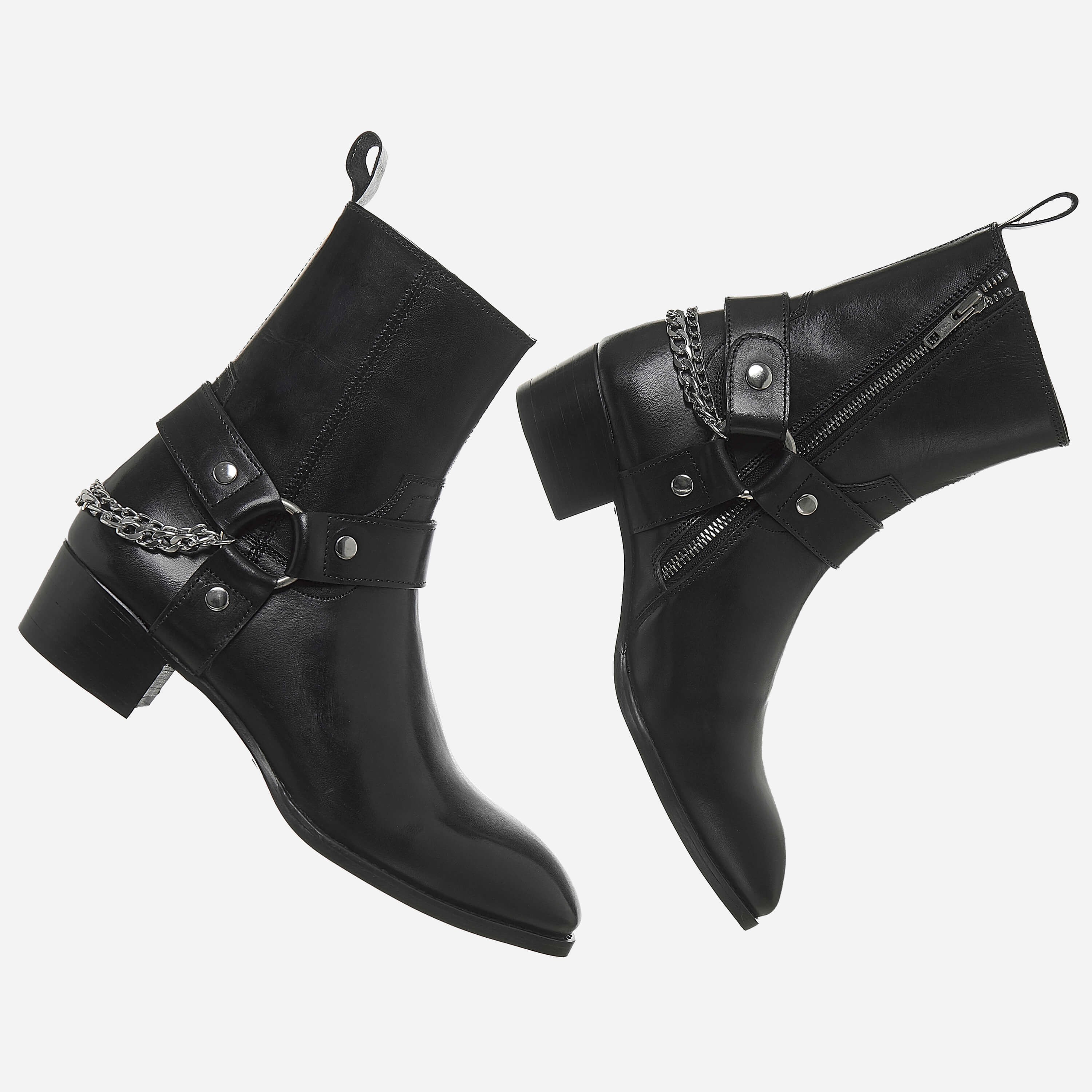 Chain x Harness Boots In Black Chain x Harness Boots In Black SS2020 5