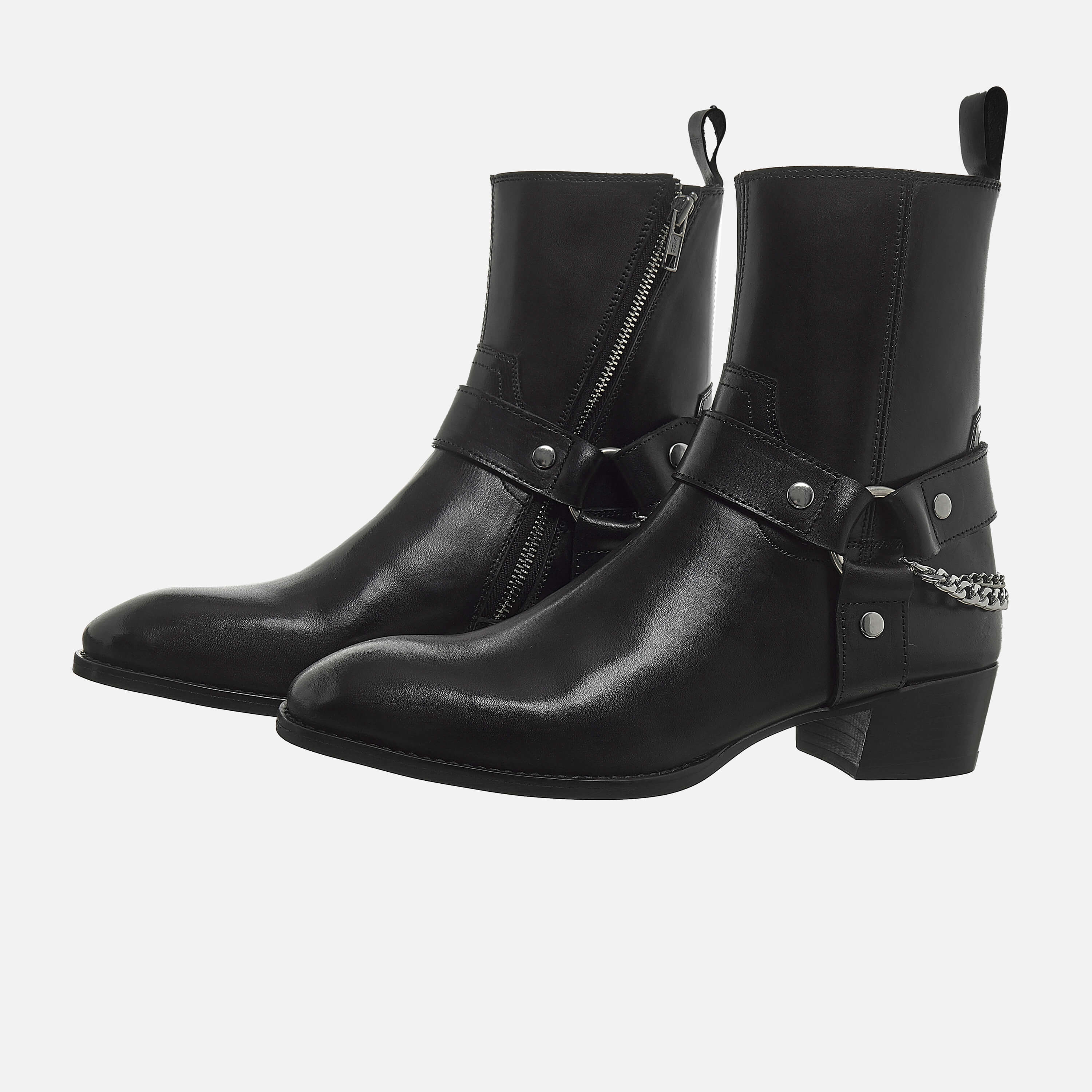 Chain x Harness Boots In Black Chain x Harness Boots In Black SS2020 7