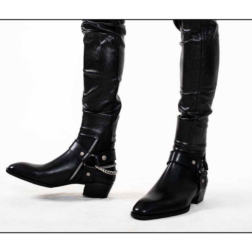 Chain x Harness Boots In Black Chain x Harness Boots In Black SS2020 Product thumbnail