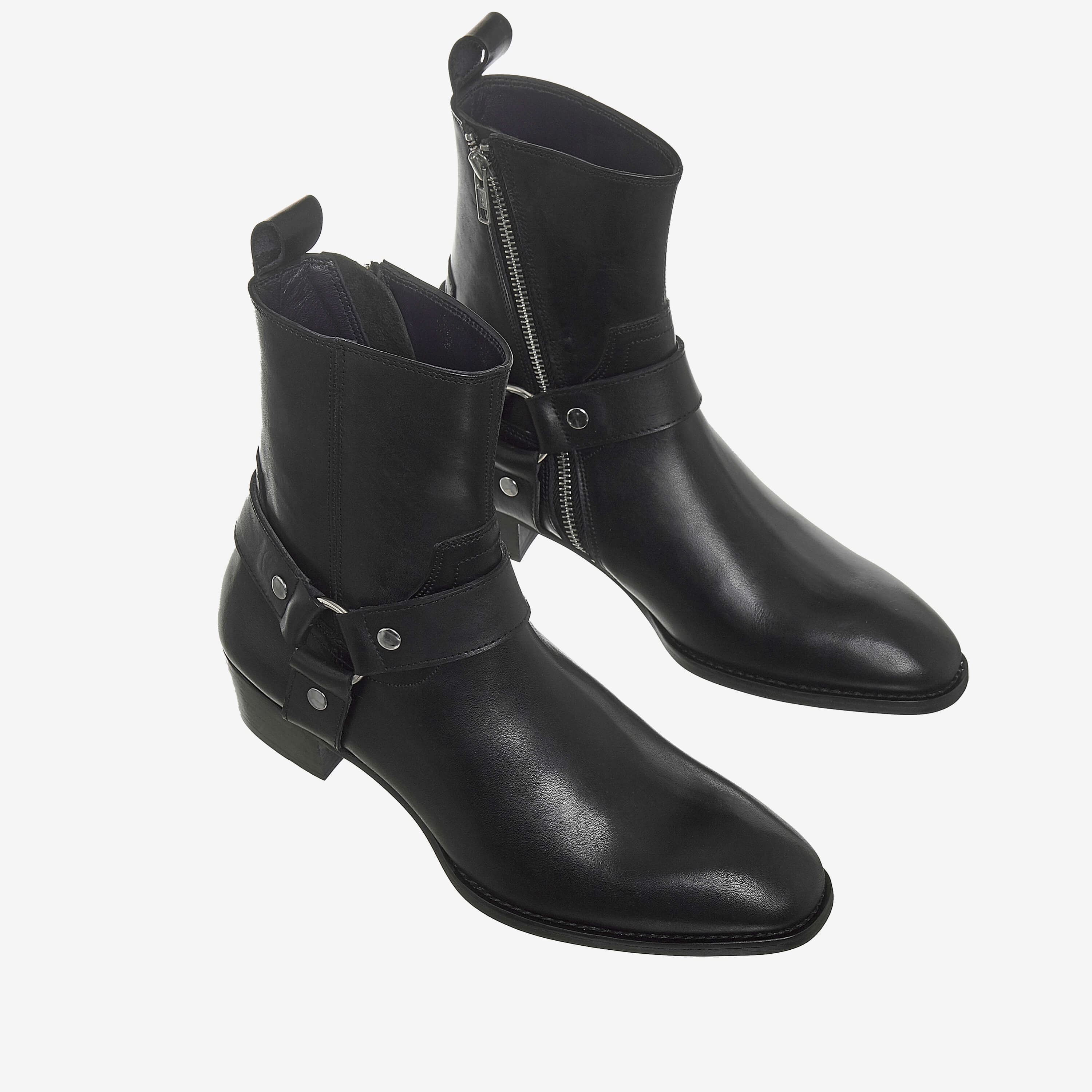 Leather Harness Boots In Black Leather Harness Boots In Black SS2020 3