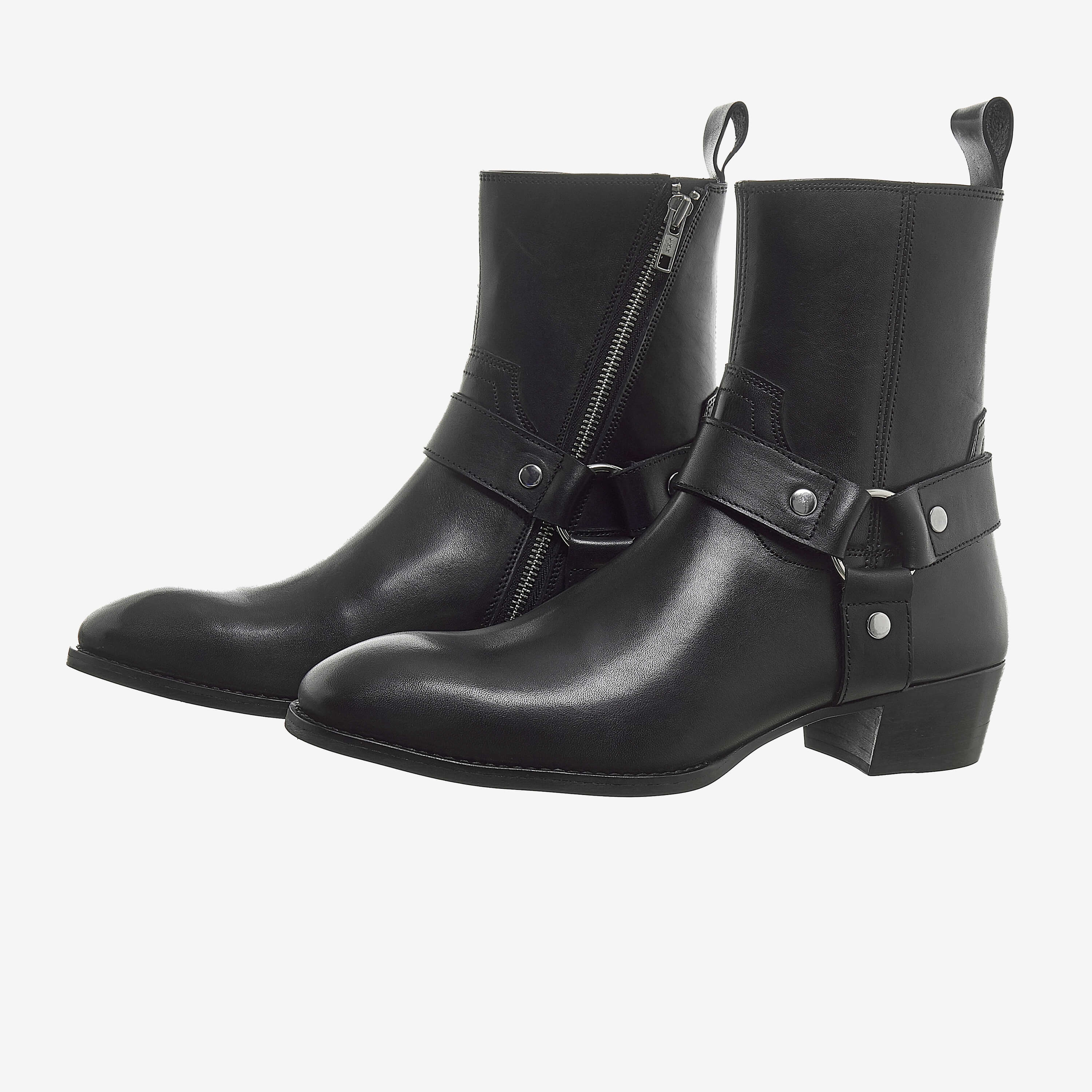 Leather Harness Boots In Black Leather Harness Boots In Black SS2020 5