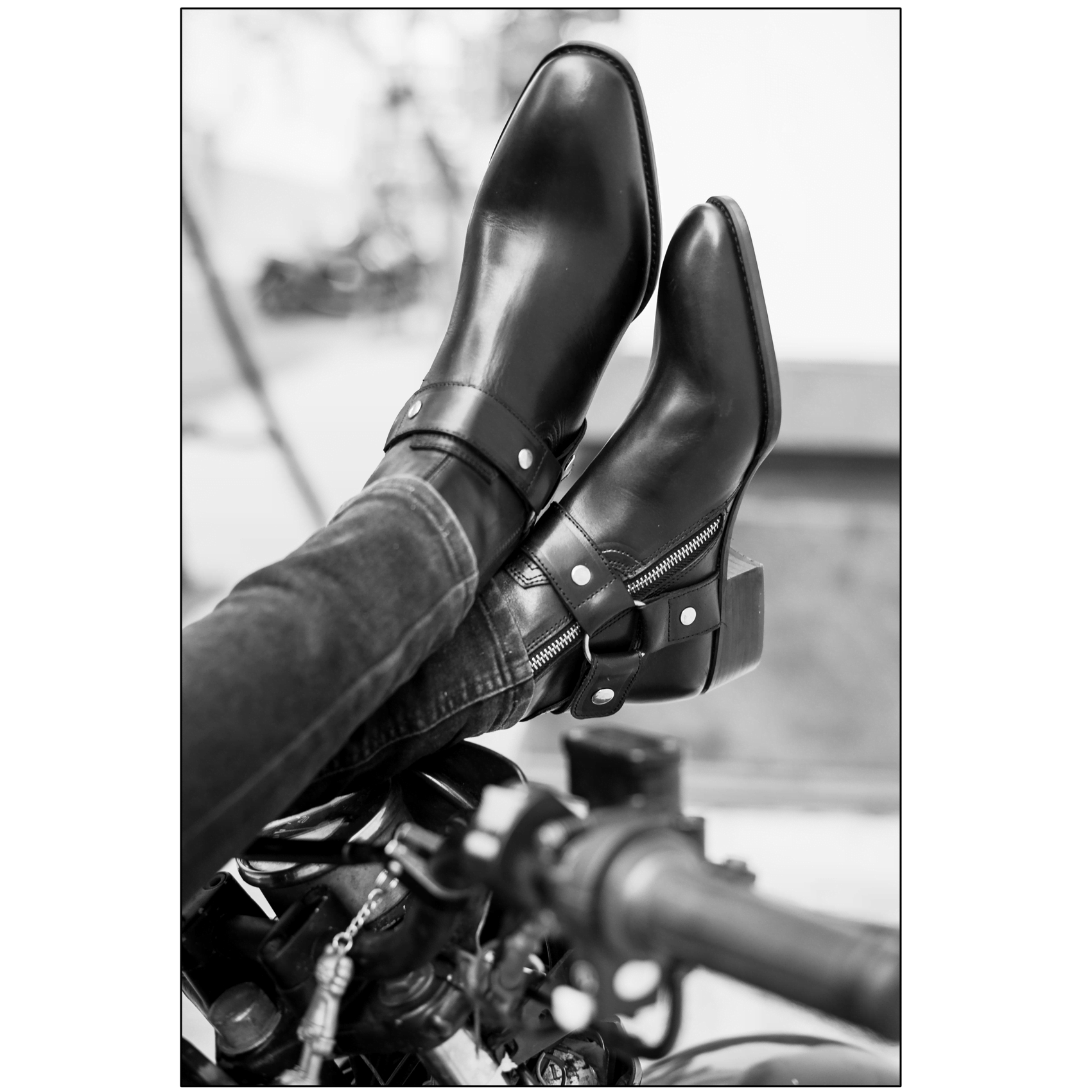 Leather Harness Boots In Black Leather Harness Boots In Black SS2020 Product thumbnail