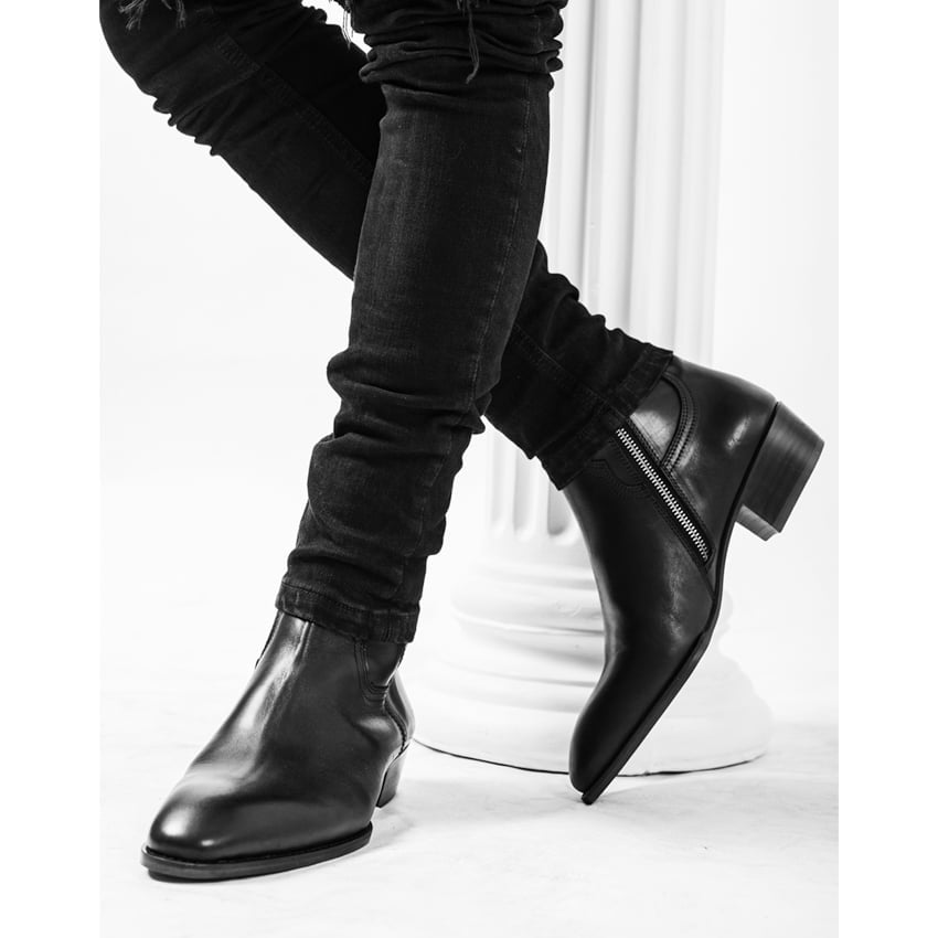 Leather Zip Boots In Black Leather Zip Boots In Black SS2020 5