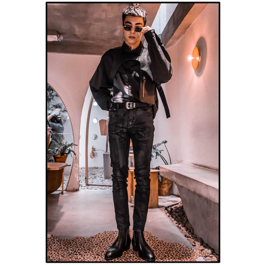 Rowan Waxed Skinny Jeans In Black Rowan Waxed Skinny Jeans In Black 4