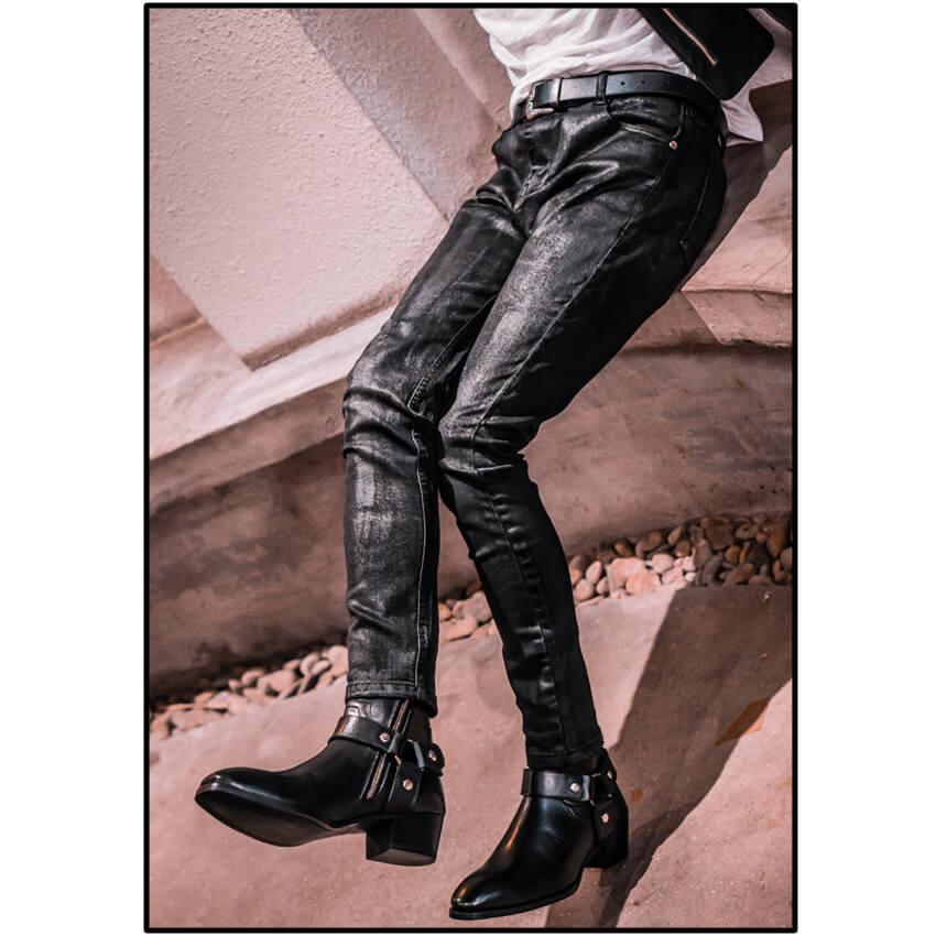 Rowan Waxed Skinny Jeans In Black Rowan Waxed Skinny Jeans In Black 5