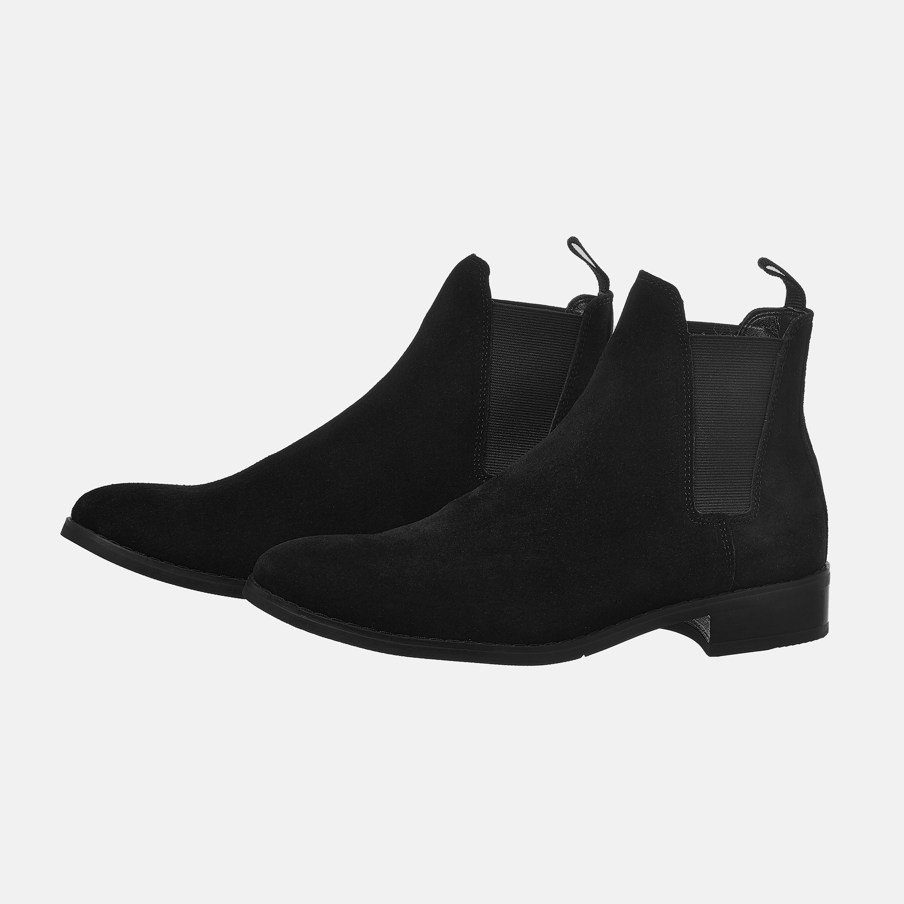 Suede Chelsea Boots In Black Suede Chelsea Boots In Black 2 1