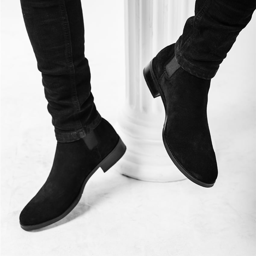 Suede Chelsea Boots In Black Suede Chelsea Boots In Black 5
