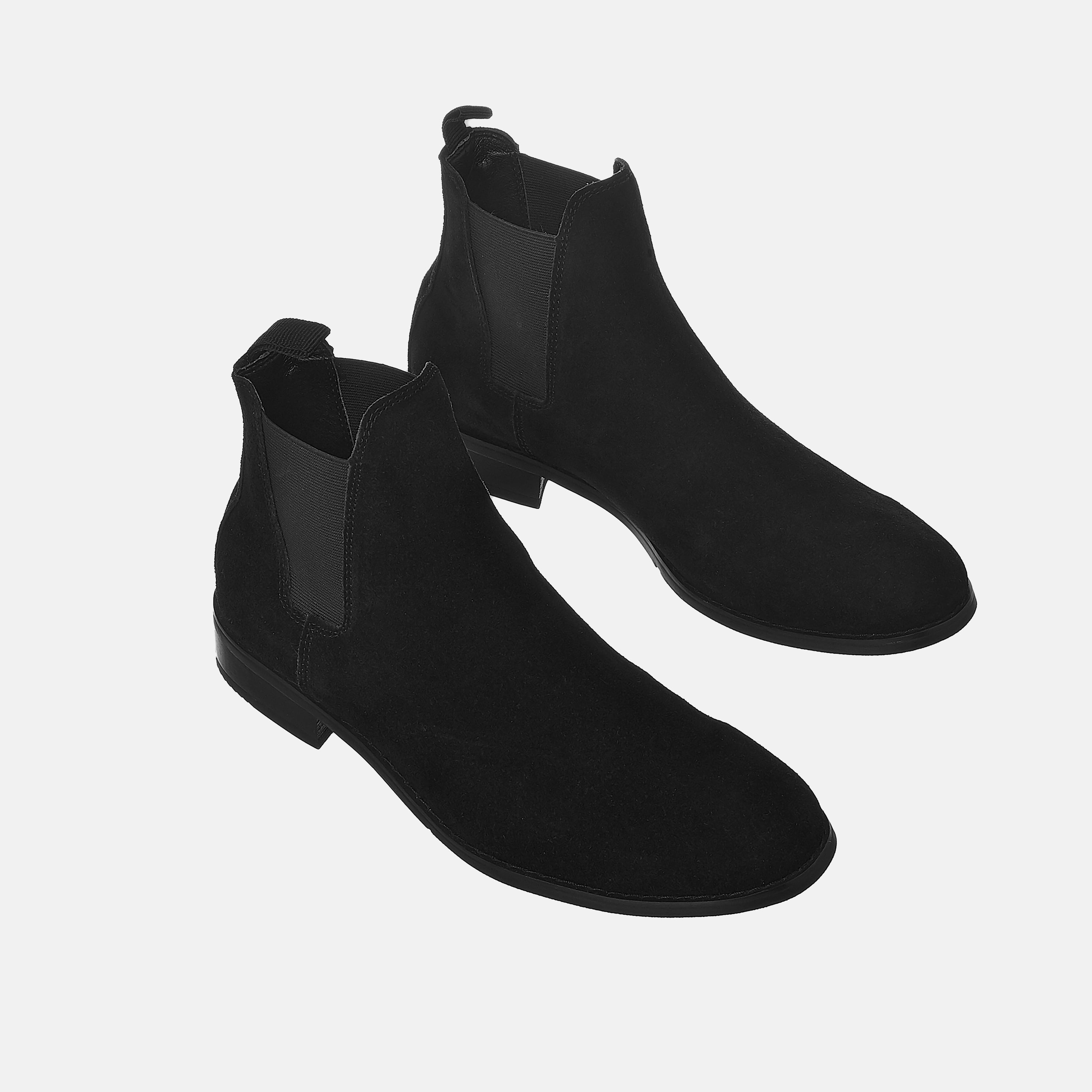 Suede Chelsea Boots In Black Suede Chelsea Boots In Black Product thumbnail 1