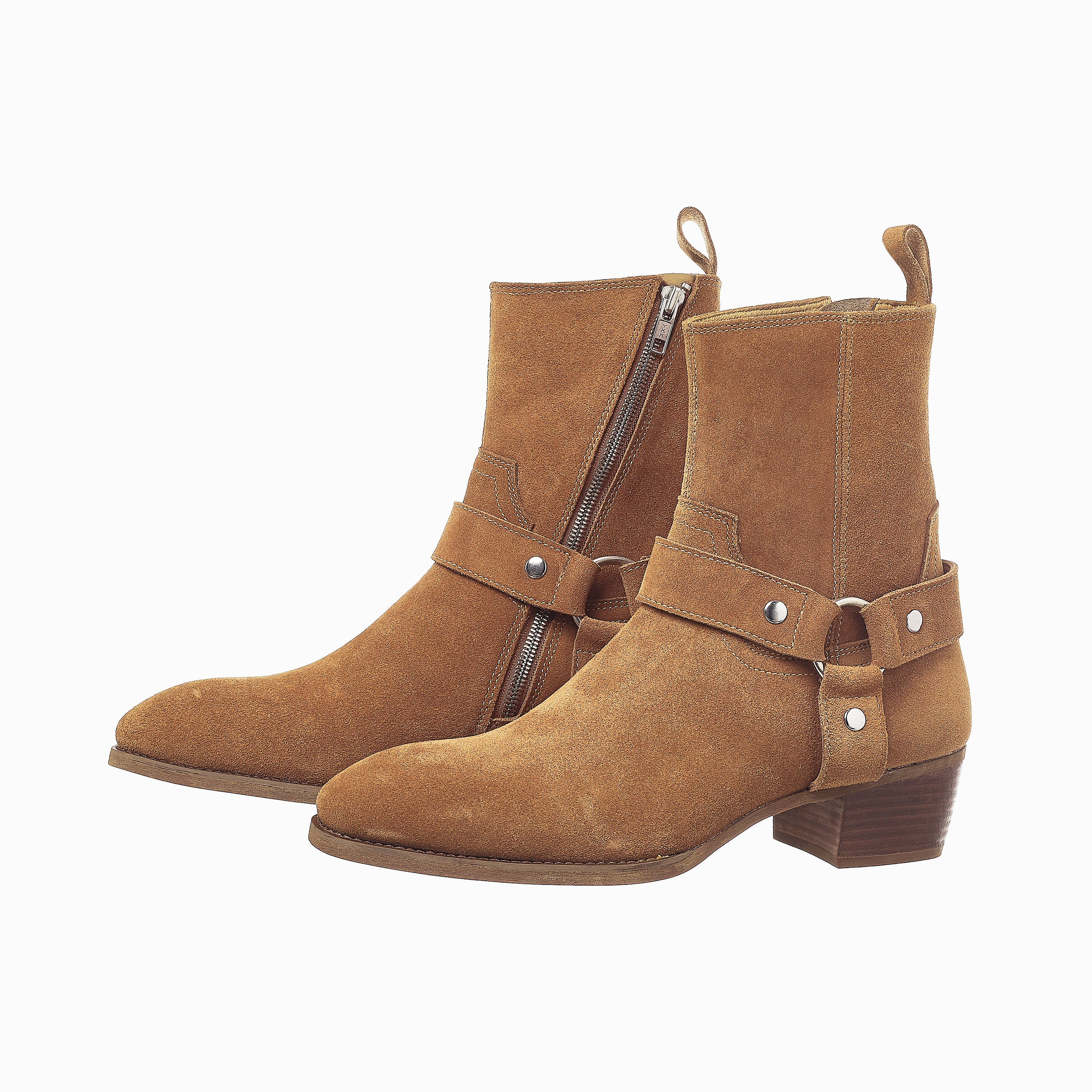 Suede Harness Boots In Tobacco Suede Harness Boots In Tobaco SS2020 1 1