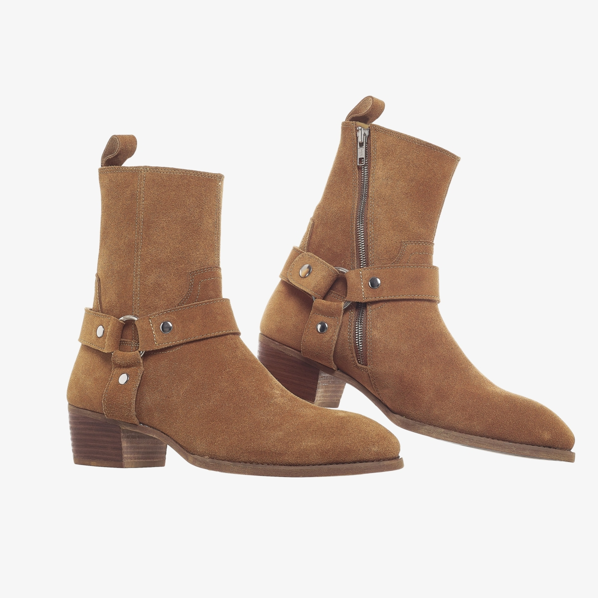 Suede Harness Boots In Tobacco Suede Harness Boots In Tobaco SS2020 2 1
