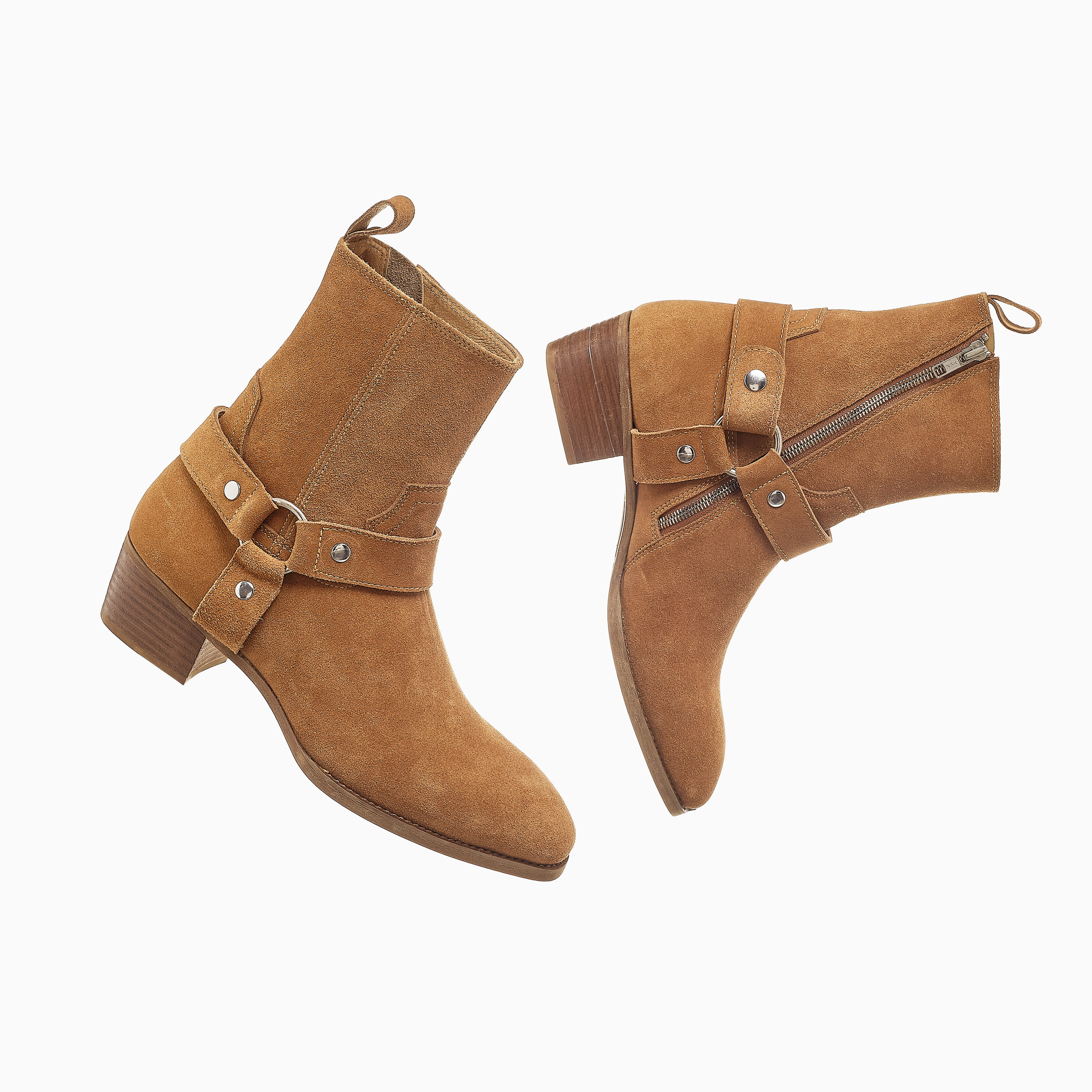 Suede Harness Boots In Tobacco Suede Harness Boots In Tobaco SS2020 3 1