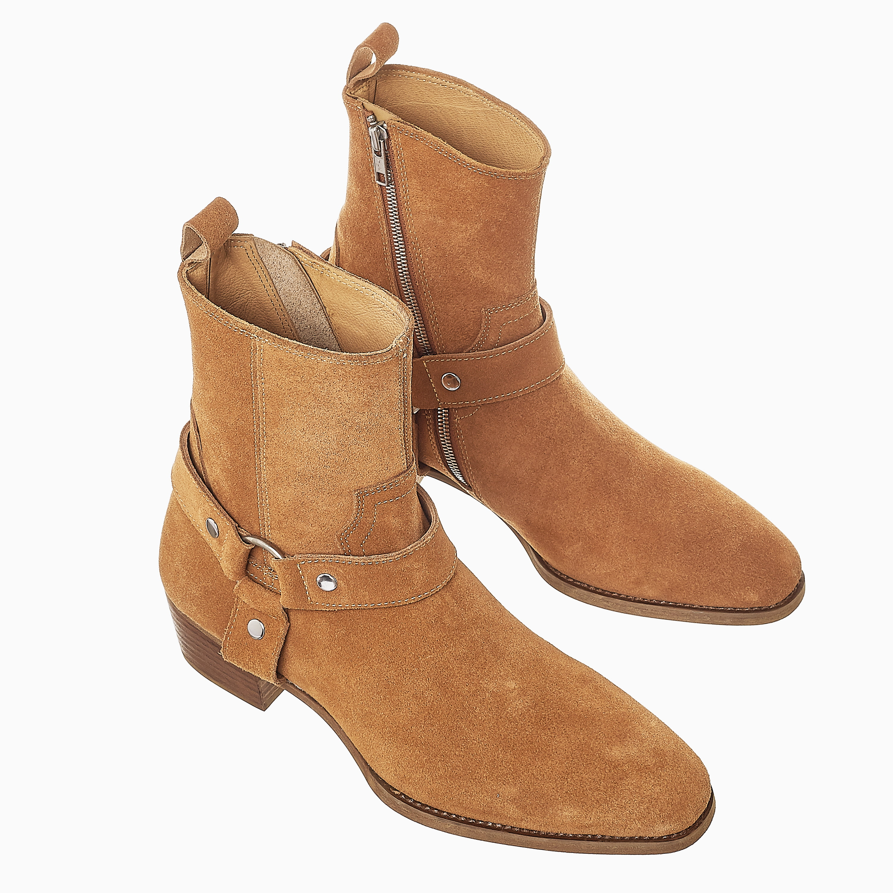 Suede Harness Boots In Tobacco Suede Harness Boots In Tobaco SS2020 Product thumbnail 1