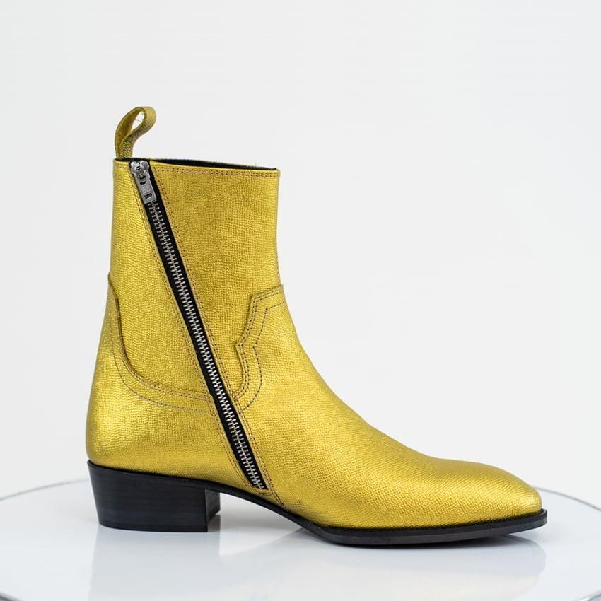 Thiea Zip Boots In Gold Thiea Zip Boots In Gold Product thumbnai