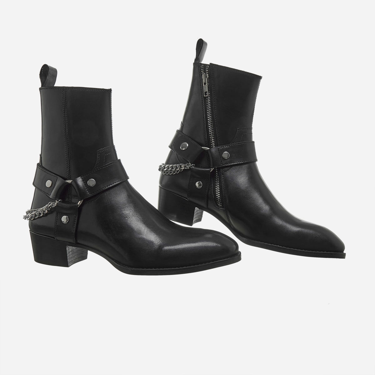 Chain x Harness Boots In Black Chain x Harness Boots In Black SS2020 6