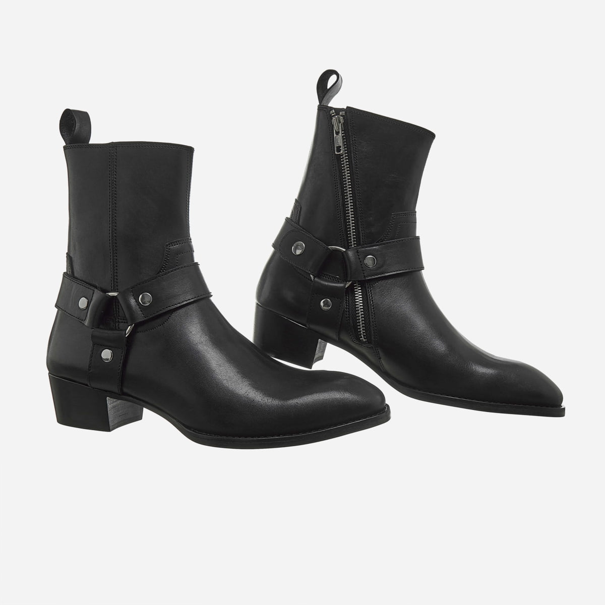 Leather Harness Boots In Black Leather Harness Boots In Black SS2020 4
