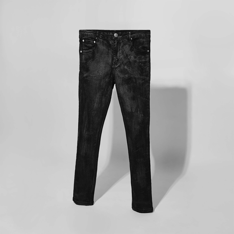 Rowan Waxed Skinny Jeans In Black Rowan Waxed Skinny Jeans In Black 1