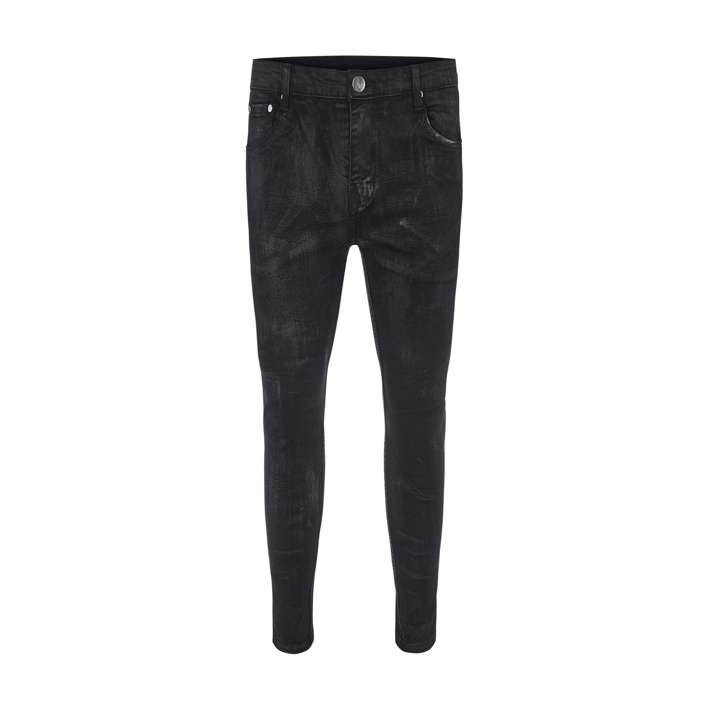 Rowan Waxed Skinny Jeans In Black Rowan Waxed Skinny Jeans In Black 2