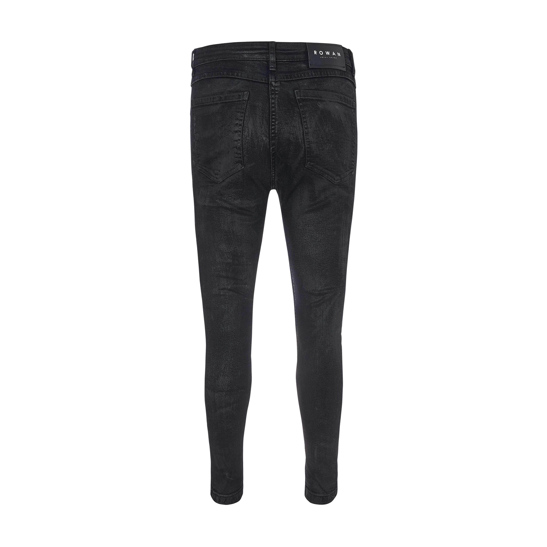 Rowan Waxed Skinny Jeans In Black Rowan Waxed Skinny Jeans In Black 3
