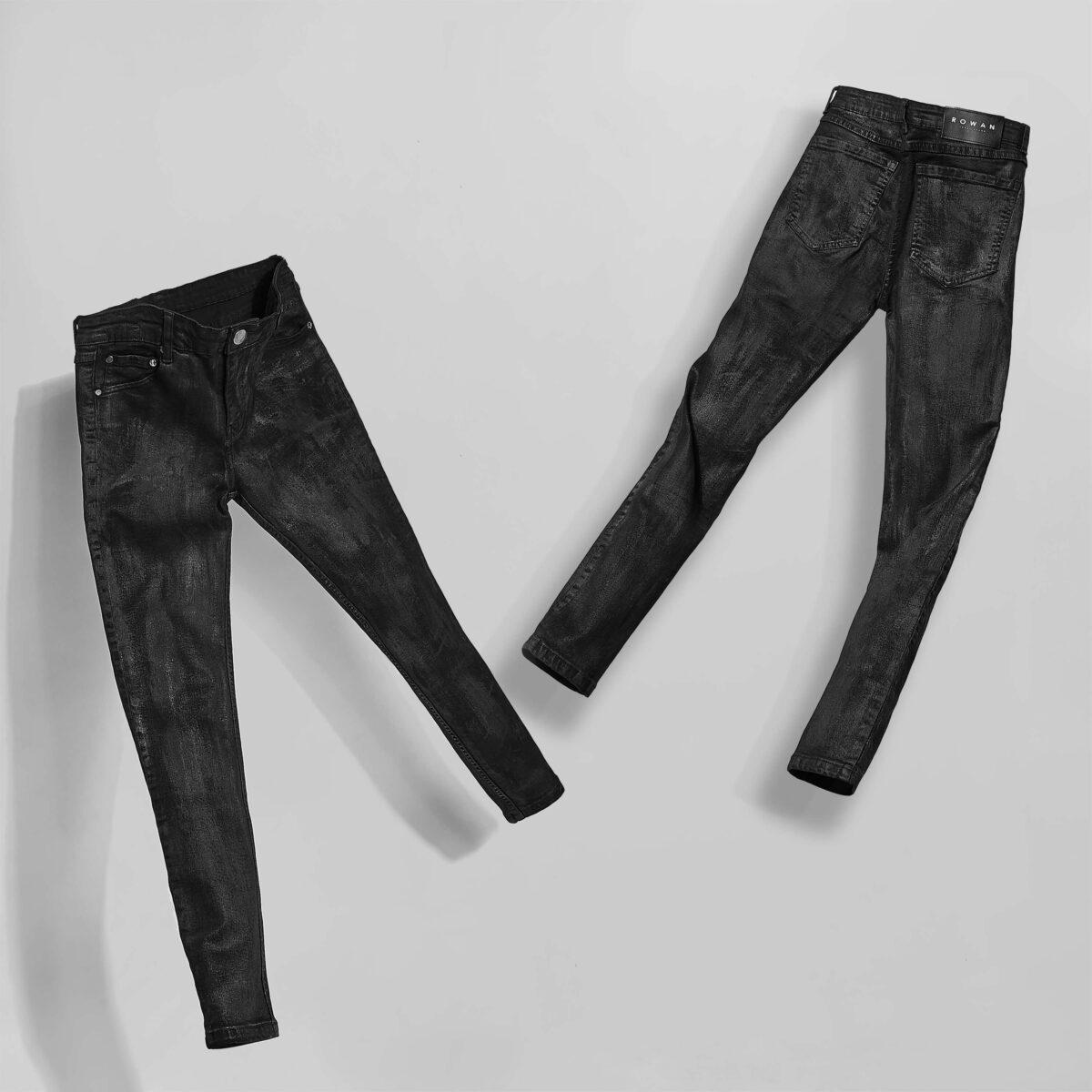 Rowan Waxed Skinny Jeans In Black Rowan Waxed Skinny Jeans In Black Product thumbnail