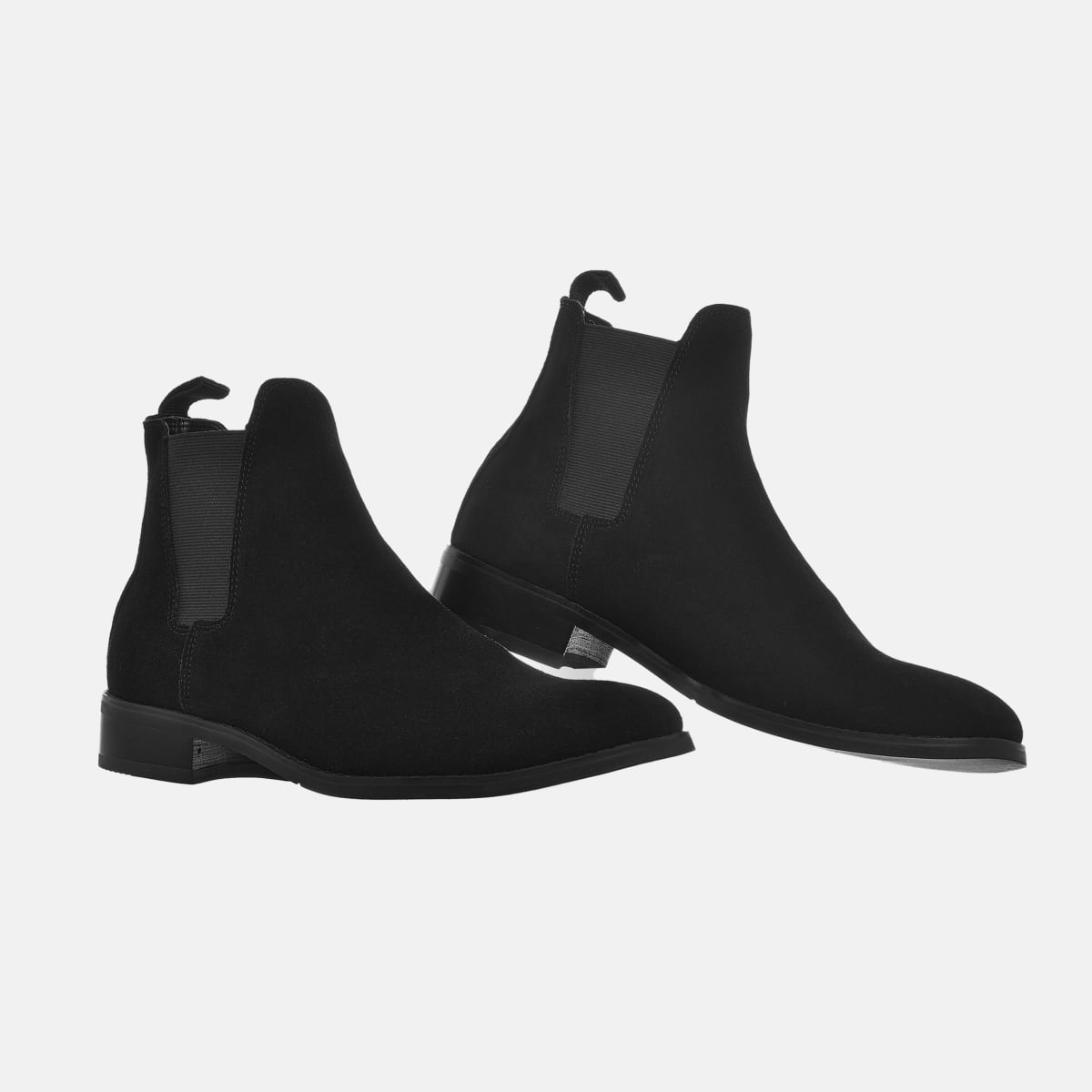 Suede Chelsea Boots In Black Suede Chelsea Boots In Black 1