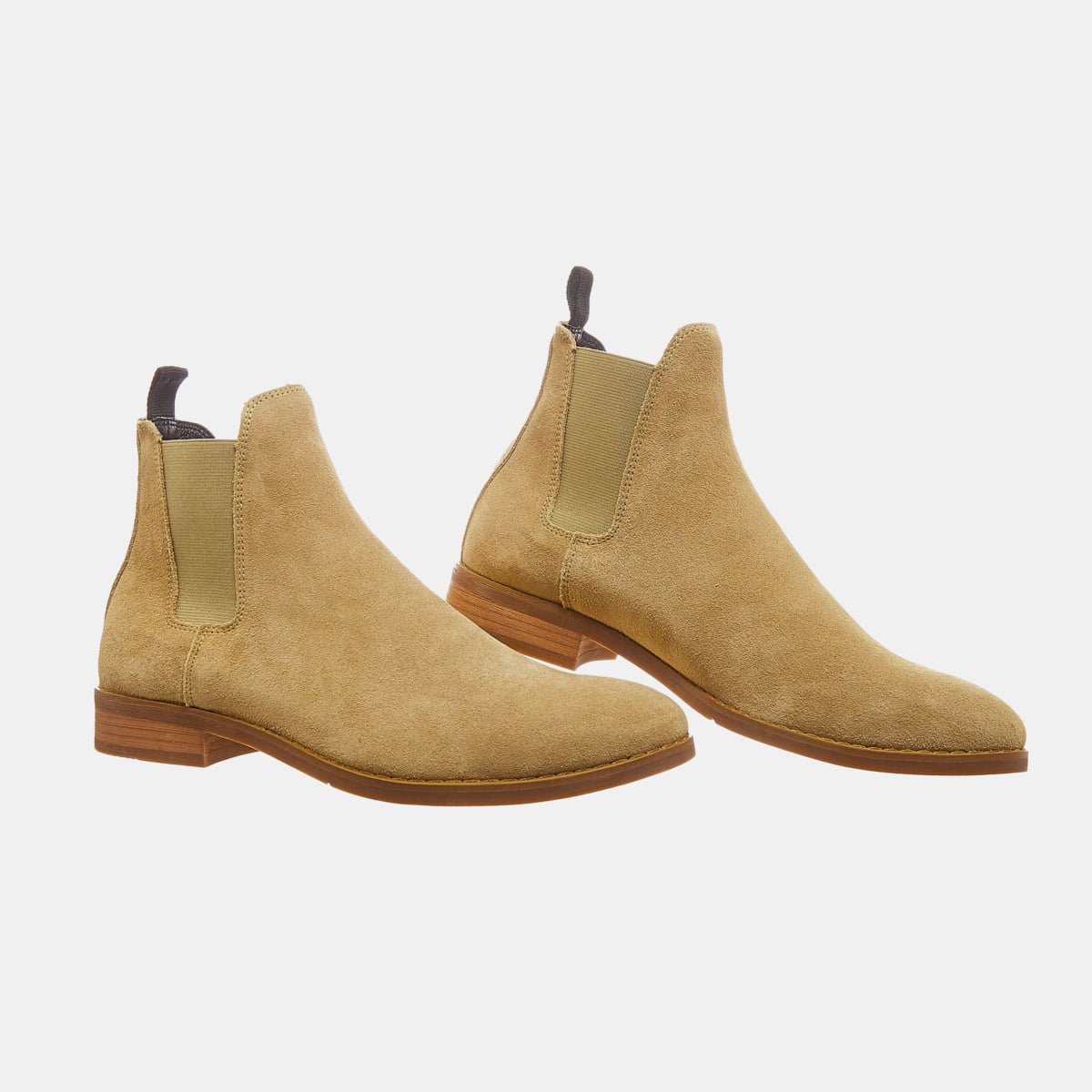 Suede Chelsea Boots In Tan Color Suede Chelsea Boots In Tan Color 2 1
