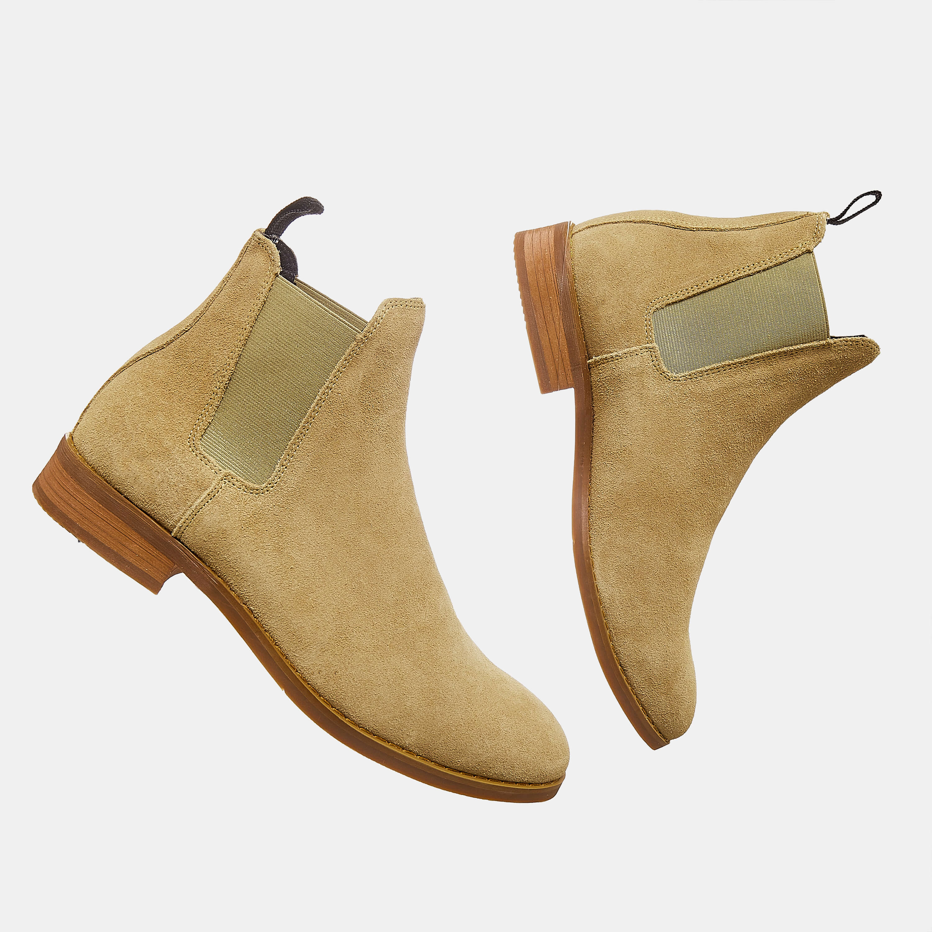 Suede Chelsea Boots In Tan Color Suede Chelsea Boots In Tan Color 4