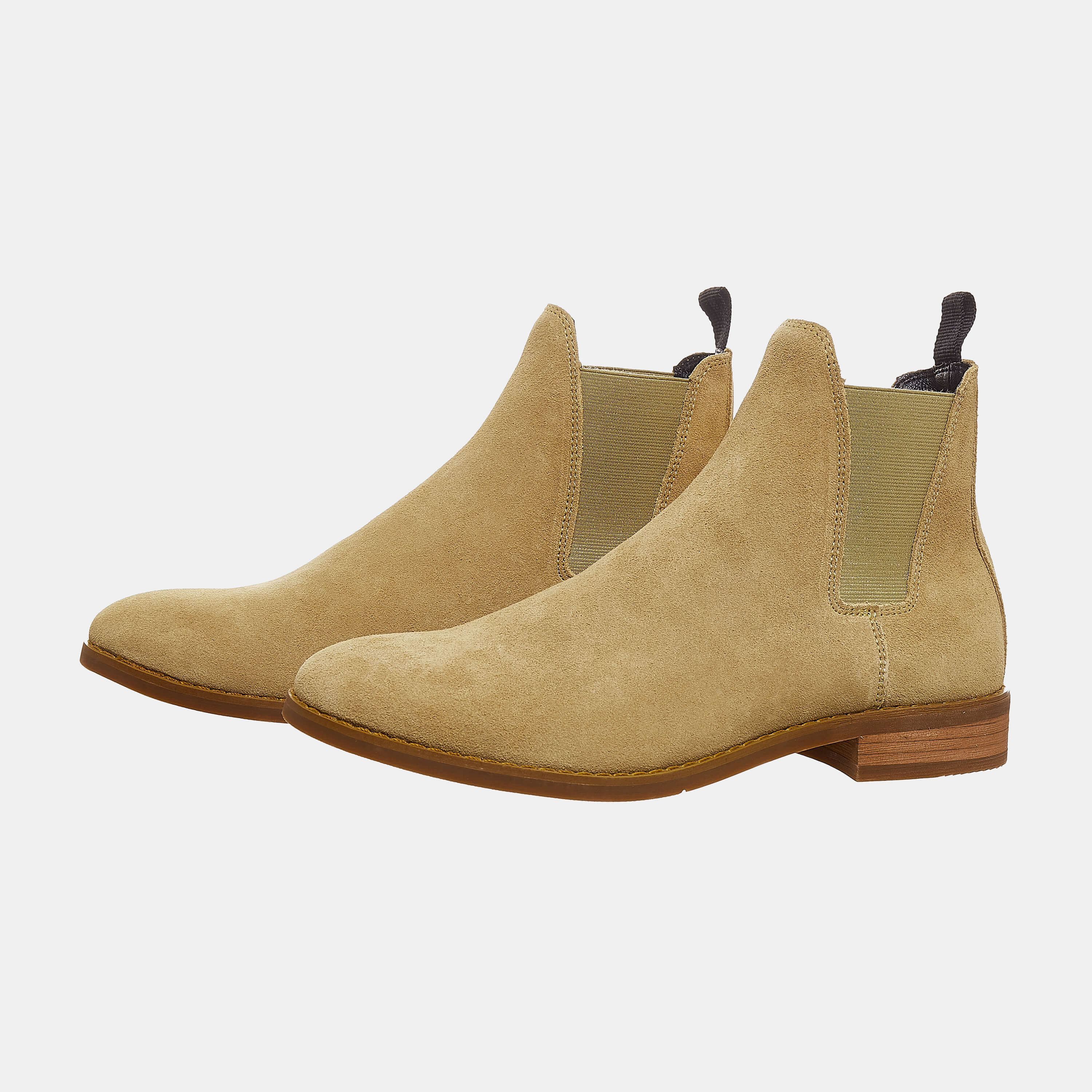 Suede Chelsea Boots In Tan Color Suede Chelsea Boots In Tan Color 5
